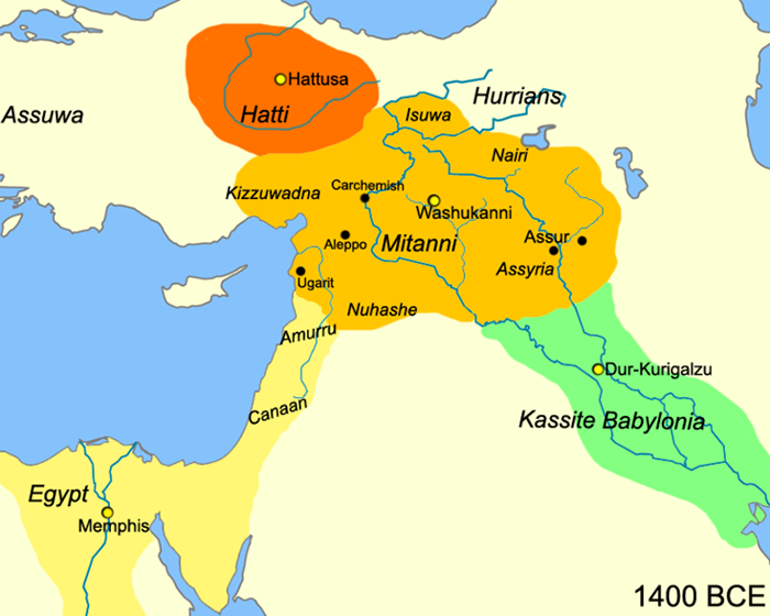 Map of Mitanni Empire